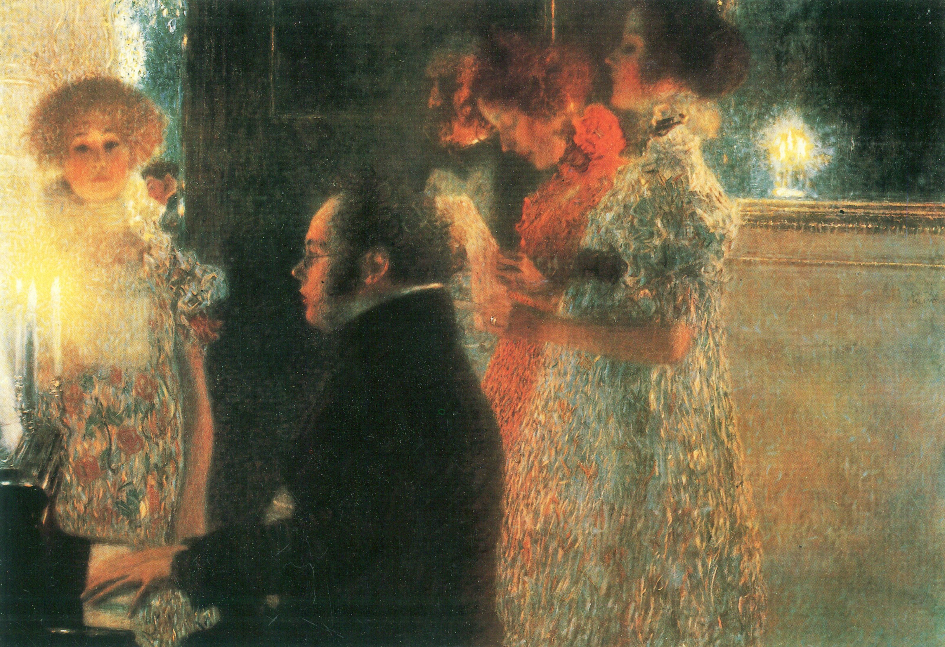 Gustv Klimt - Schubert at the Piano