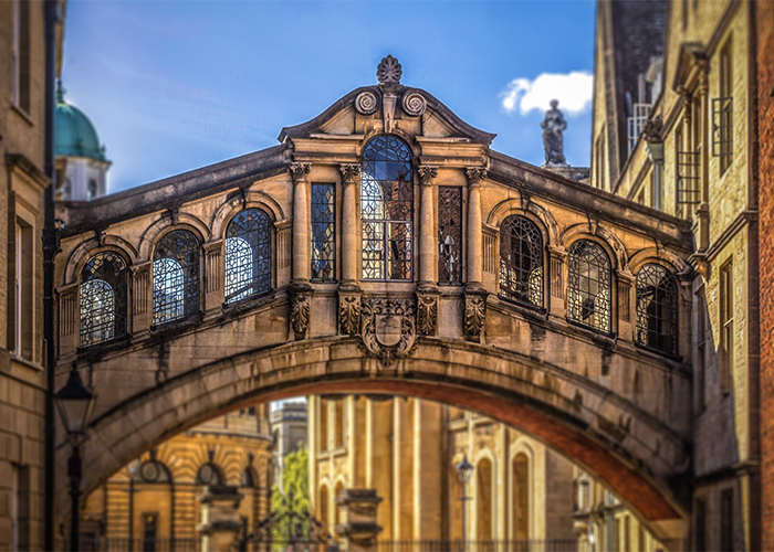 The Bridge of Sighs - Hertford College (Oxford University) - Photo by Andrew Shiva via Wikipedia